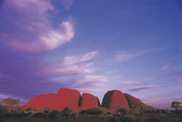 Kata Tjuta The Olgas an Aboriginal Cultural experience in Uluru Kata Tjuta National Park Australia. Uluru-Kata Tjuta National Park. A 0-WayOutBack/rld Heritage Living Cultural Landscape. This image supplied by NT Tourism. This image is shown in the promotion of the Aboriginal Cultural landscape