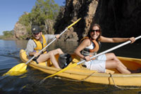 • Katherine Gorge Cruise and Canoe both optional and additional cost. Payable direct at Katherine Gorge. Photo NT Tourism